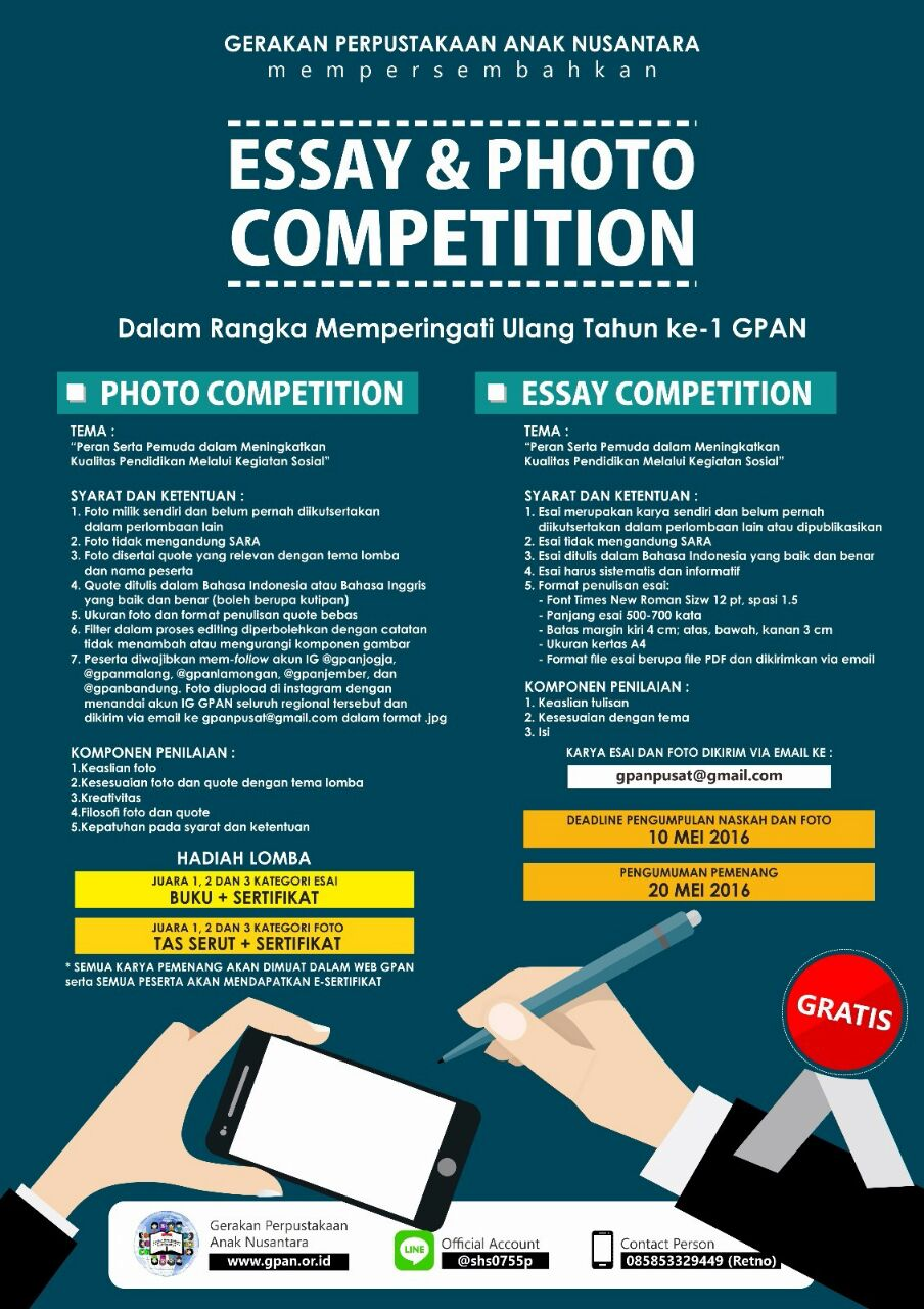 "Pemenang Lomba ""Essay & Photo Competition"" HUT #1 GPAN"