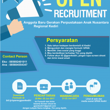 Open Recruitment Anggota GPAN Kediri